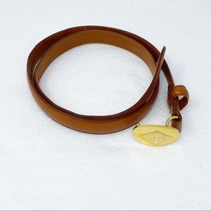 Ralph Lauren Brown Leather Belt Made in Italy M